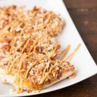 Bacon honey mustard pretzel chicken ohsweetbasil.com