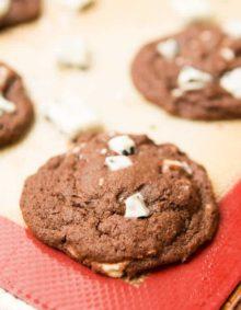 Chocolate Cookies and Cream Cookies ohsweetbasil.com