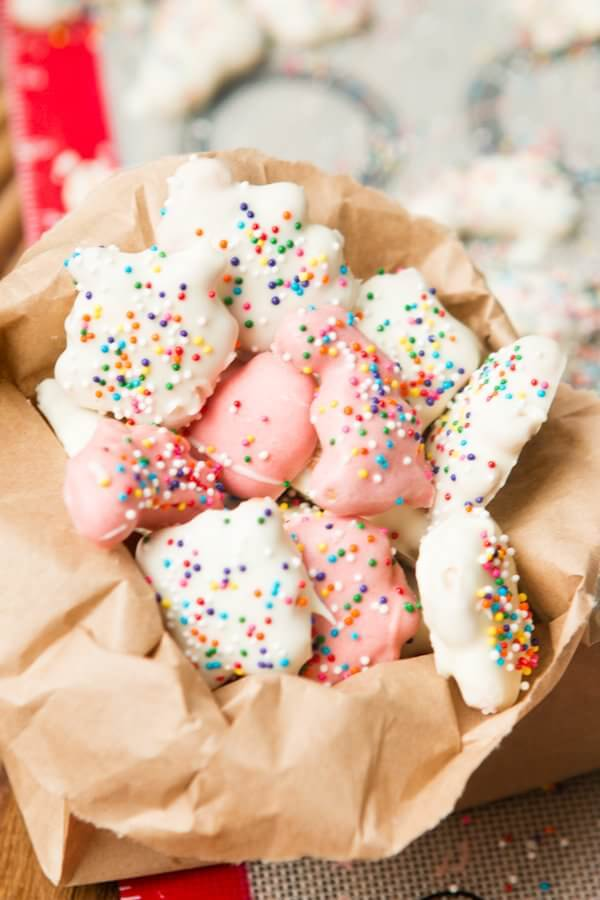 Circus Animal Cookies in 5 minutes! ohsweetbasil.com