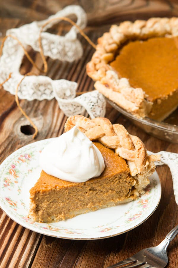 The BEST Pumpkin Pie recipe and it turns out every year! ohsweetbasil.com