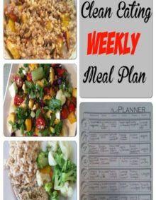 Clean Eating Weekly Meal Plan