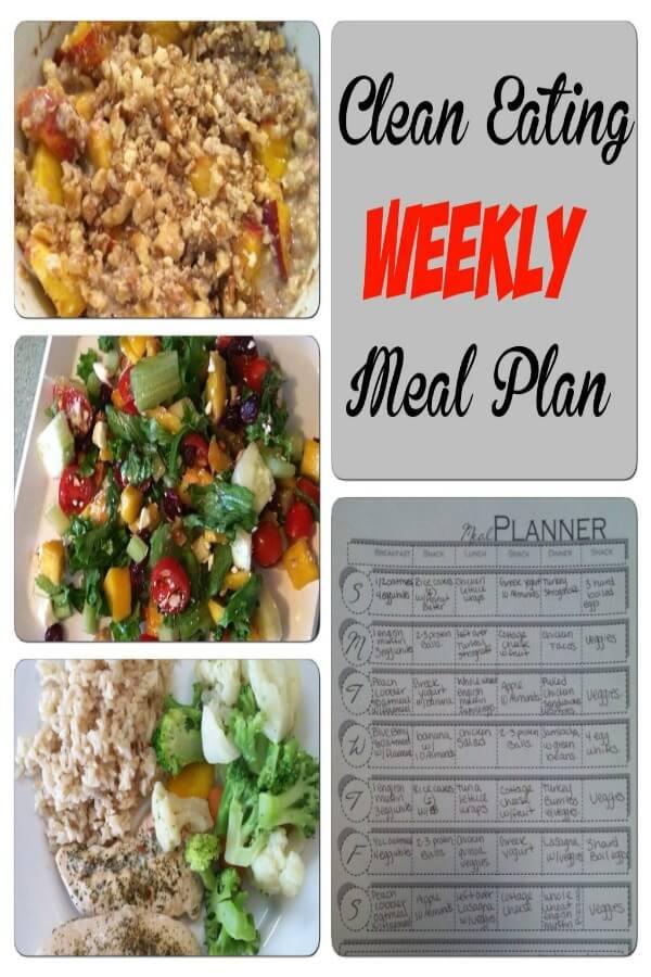Clean Eating Weekly Meal Plan