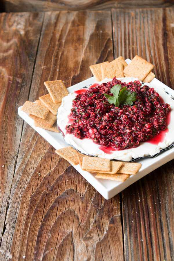 Cranberry cream cheese dip ohsweetbasil.com The ultimate holiday appetizer, cranberry cream cheese dip ohsweetbasil.com