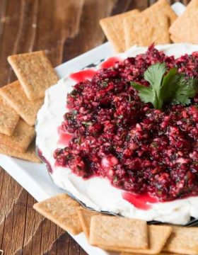 The ultimate holiday appetizer, cranberry cream cheese dip ohsweetbasil.com