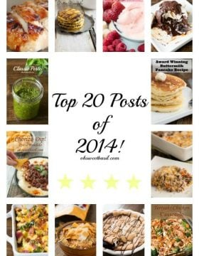 Top 20 posts of 2014 ohsweetbasil.com