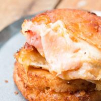 Fried Ham and Cheese melt ohsweetbasil.com