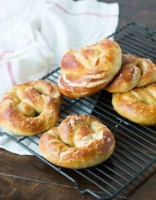 Easy soft pretzels at home ohsweetbasil.com