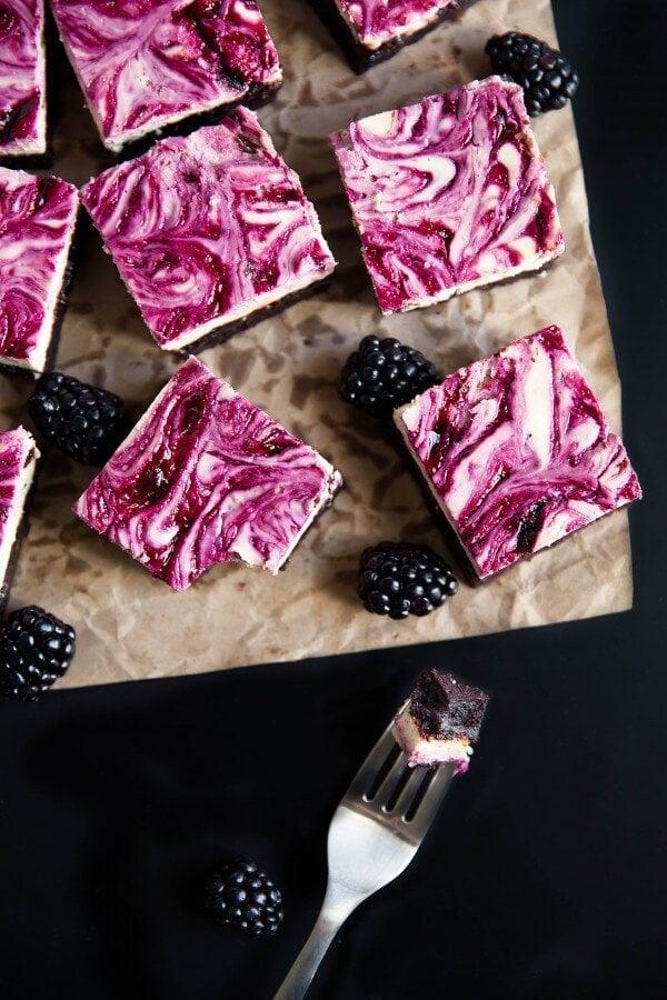 BlackBerry-Cheesecake-Brownies