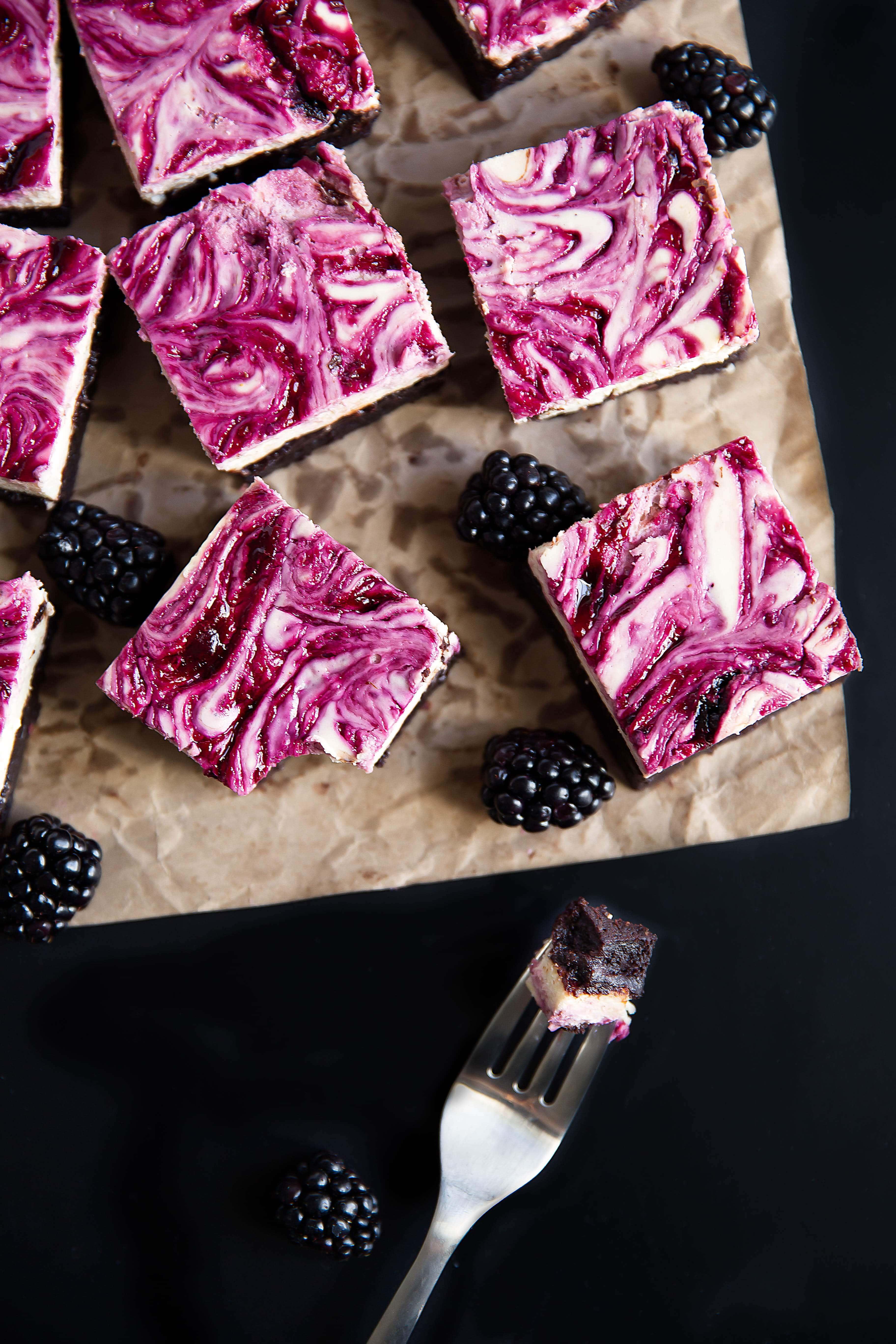 Blackberry Cheesecake Brownies Oh Sweet Basil