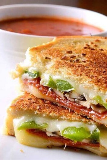 Pepperoni Pizza Grilled Cheese | Life's Ambrosia