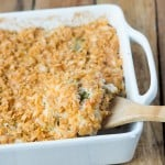 CHeesy Broccoli Chicken and Rice Casserole, kids and adults love it! ohsweetbasil.com