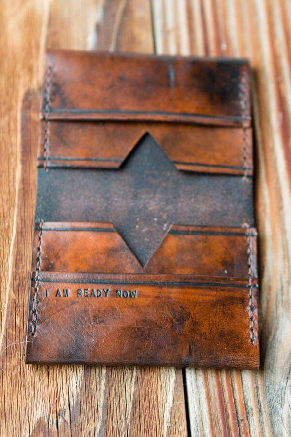 personalized gifts mean so much more, like this handmade leather wallet ohsweetbasil.com