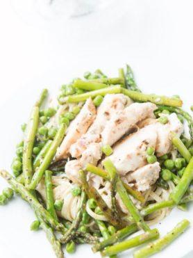 garlic lemon butter chicken pasta ohsweetbasil.com