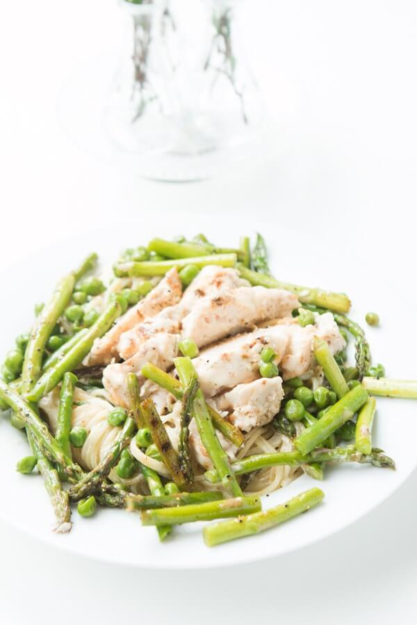 Garlic Lemon Butter Chicken Pasta, easy and totally craveable carbs ohsweetbasil.com