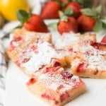 Strawberry Lemon Bars with a lovely tart crust ohsweetbasil.com