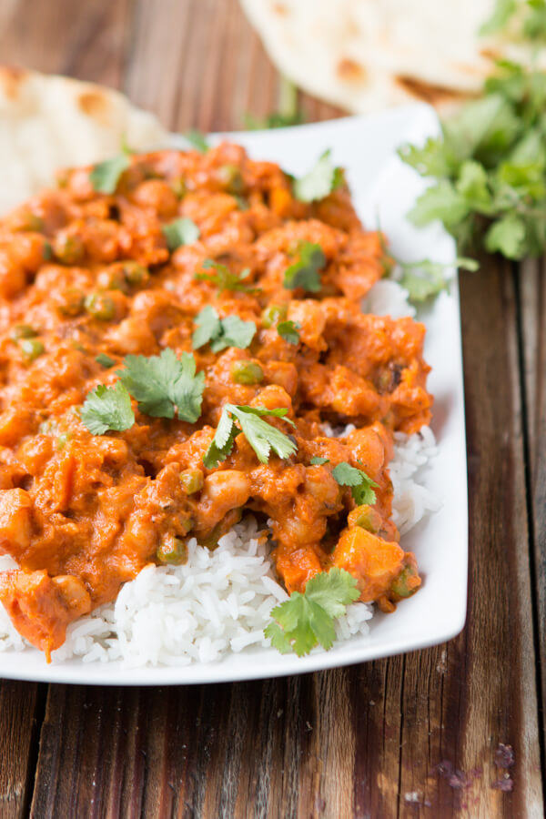 This vegetarian bombay house tikka masala copycat recipe is one of our favorite dinners to make and it's actually quite easy. Just a bunch of spices!