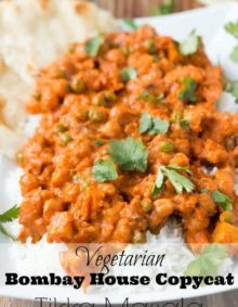 The best Bombay House Copycat recipe I've tried. Vegetarian Tikka Masala ohsweetbasil.com