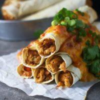 Cheesy Spicy Chicken Flautas