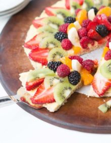 Mom's famous fruit pizza ohsweetbasil.com