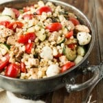 Grilled Greek Chicken and Corn Salad
