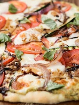 Our Best Bites Healthy Grilled Vegetable Pizza ohsweetbasil.com