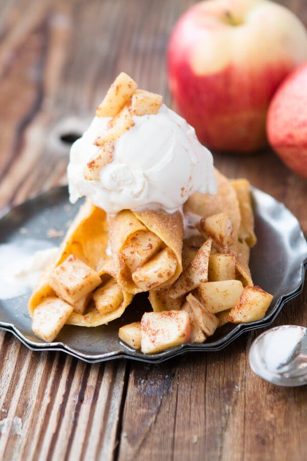 Apple Pie Taquitos!! ohsweetbasil.com fall snack, appetizer