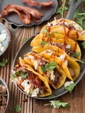BBQ Pulled Pork Tacos, my new favorite for taco tuesday ohsweetbasil.com