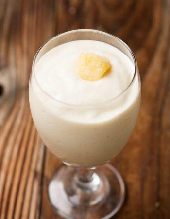Pina Colada Protein Shake ohsweetbasil.com
