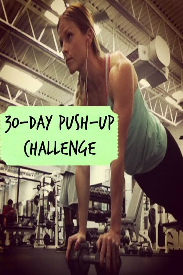 30 Day Push Up Challenge ohsweetbasil.com