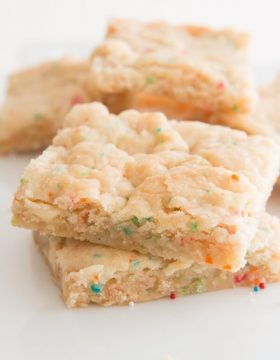 Rainbow White Chocolate Chip Brownies ohsweetbasil.com