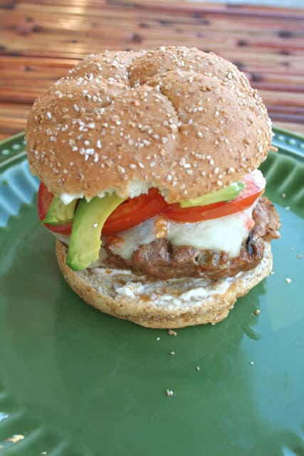 Mexican Burger ohsweetbasil.com
