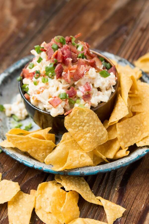 Bacon Ranch Corn Dip ohsweetbasil.com