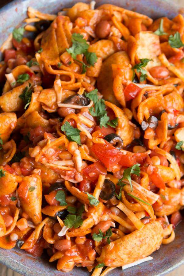 Frito Salad loaded so much flavor and always a favorite at BBQ's! ohsweetbasil.com