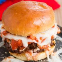 The ultimate Lasagna Burger!! ohsweetbasil.com