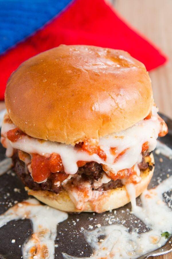 The ultimate Lasagna Burger!! ohsweetbasil.com