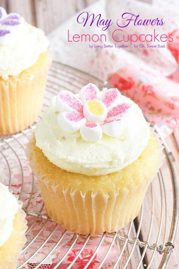 May Flowers Lemon Cupcakes