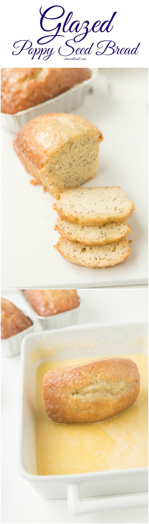 The BEST glazed poppy seed recipe ohsweetbasil.com