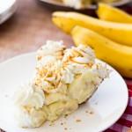 Salted Caramel Banana Pie