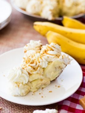 salted caramel banana pie for the win!! ohsweetbasil.com