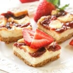 Strawberry cheesecake bars ohsweetbasil.com