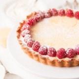 Lemon Curd Cheesecake Tart ohsweetbasil.com