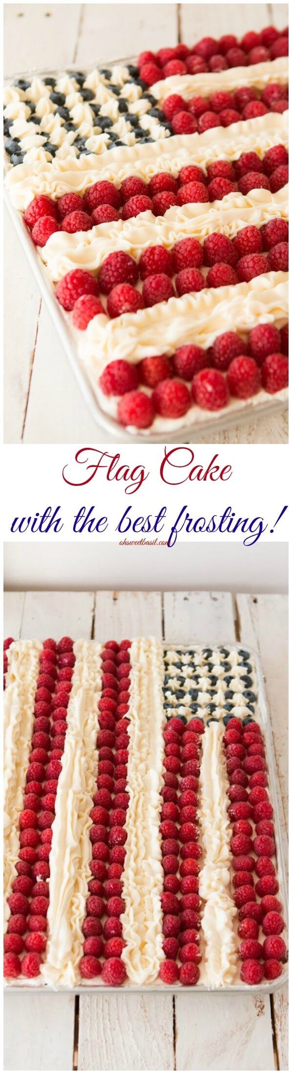 The BEST flag cake recipe I've tried and it's way easy to make! ohsweetbasil.com
