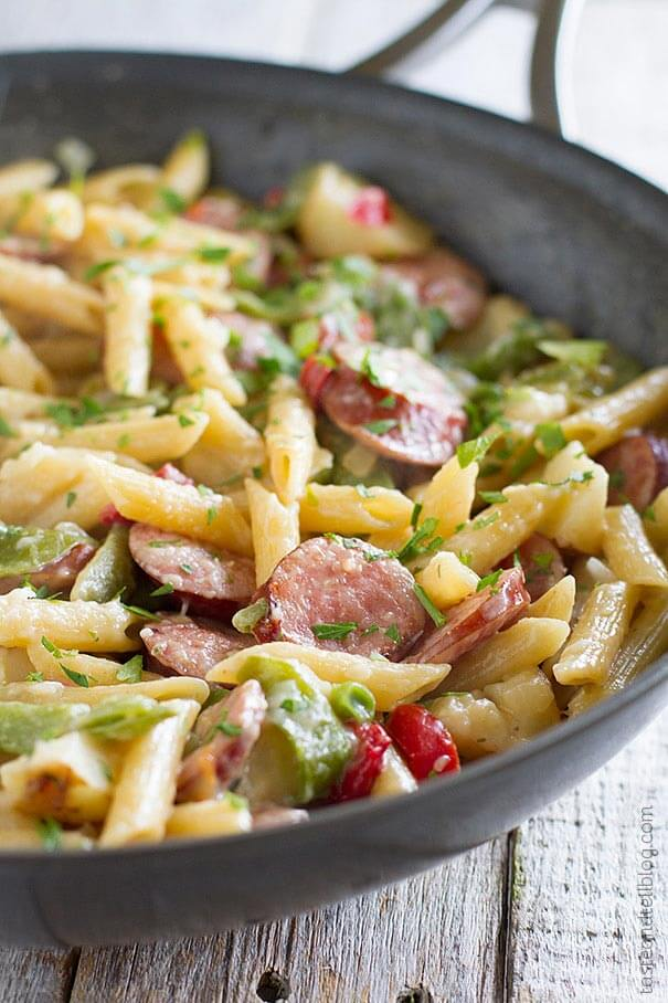 Skillet-Pasta-with-Sausage-Taste-and-Tell-1-opt