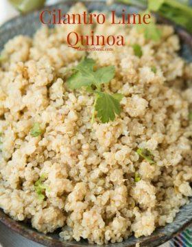 Cilantro Lime Quinoa ohsweetbasil.com