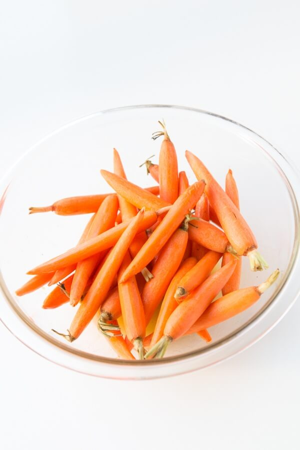 Our family's favorite side, honey roasted carrots. ohsweetbasil.com