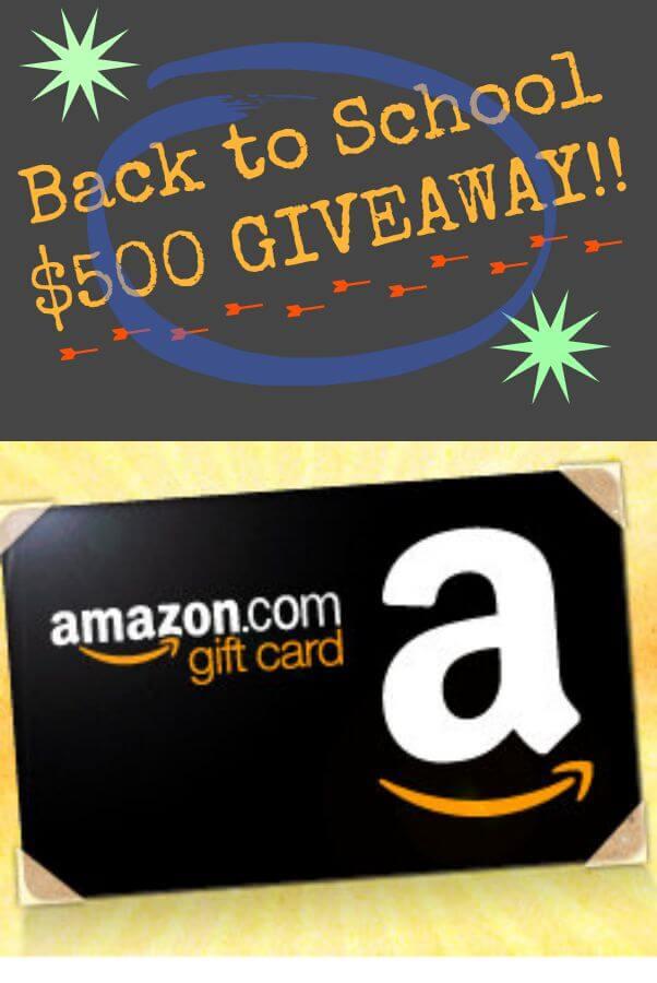 Back to school giveaway Amazon