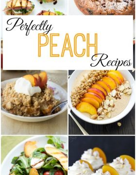Perfect Peach Recipes on Oh Sweet Basil - over 25 peach recipes featuring peach pie smoothie bowl, peach capreses salad, peach cobbler and more!
