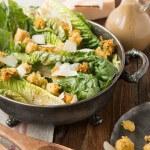 Caesar salad with polenta croutons ohsweetbasil.com