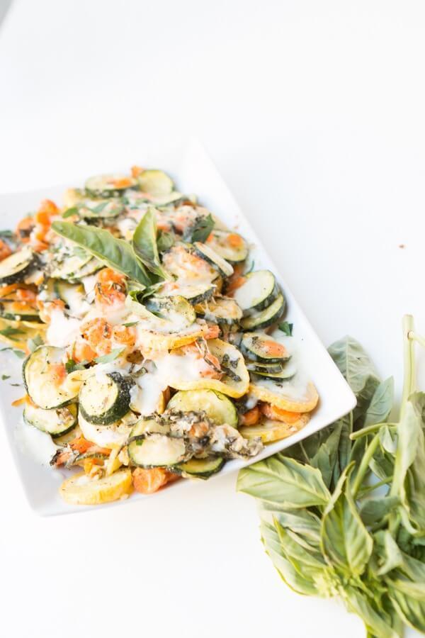 cheesy basil veggies ohsweetbasil.com