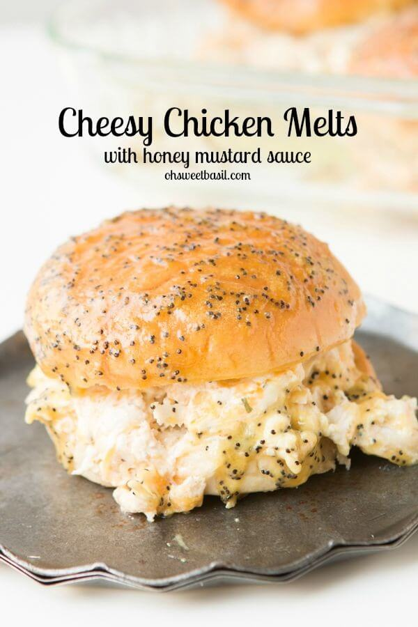These Creamy Cheesy Chicken Melts are AMAZING! Don't mistake them for the ham sliders you often see, these are so much more! ohsweetbasil.com